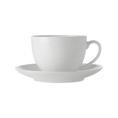 Maxwell & Williams White Basics Cup & Saucer 280ml - (printed with 1 colour(s)) FX0136_PPI