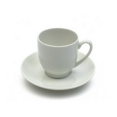 Maxwell & Williams White  Basics Demi Cup & Saucer - (printed with 1 colour(s)) P150_PPI