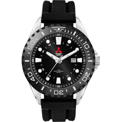Watch, Metal with Silicone Strap W5107SBK-PU_PREMIER