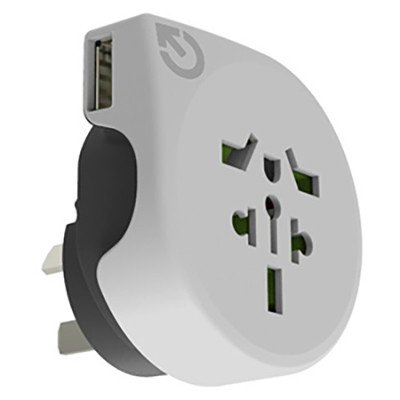 World To Australasia Travel Adaptor - (printed with 4 colour(s)) AR890_PROMOITS