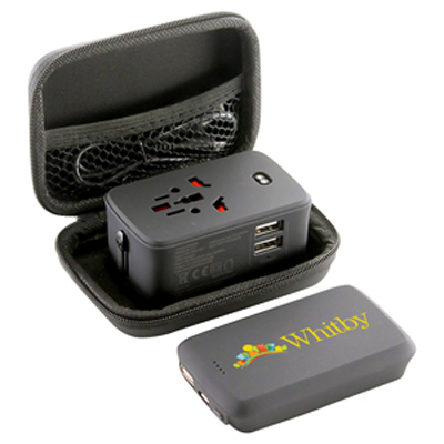 Lazio Travel Adaptor & Power Bank - 4000 Mah - (printed with 1 colour(s)) AR894_PROMOITS