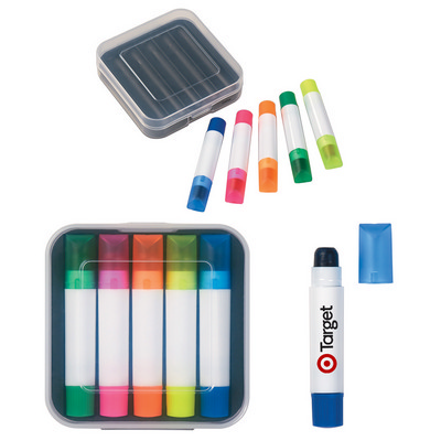 Set Of 5 Gel Wax Highlighters - (printed with 1 colour(s)) PH456_PS