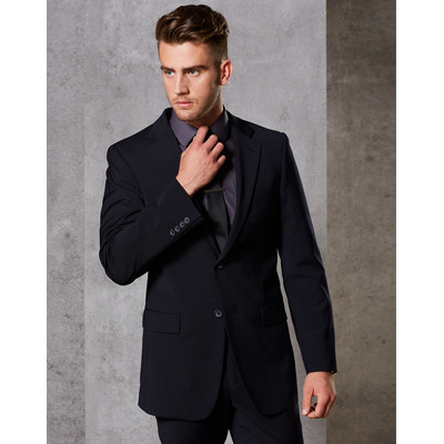 MenS Wool Blend Stretch Two Buttons Jacket M9100_WIN