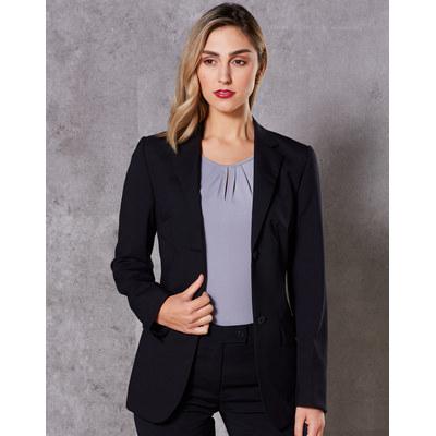 WomenS Wool Blend Stretch Mid Length Jacket M9200_WIN