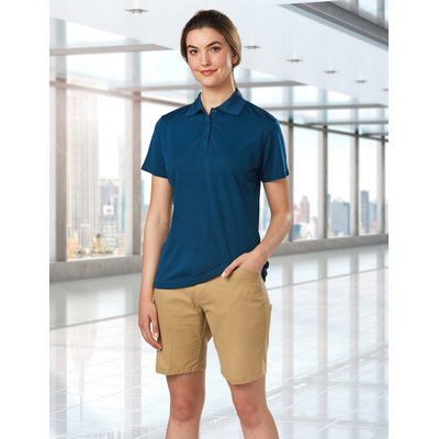 Ladies Stretch Slimfit Boston Chino Shorts M9391_WIN