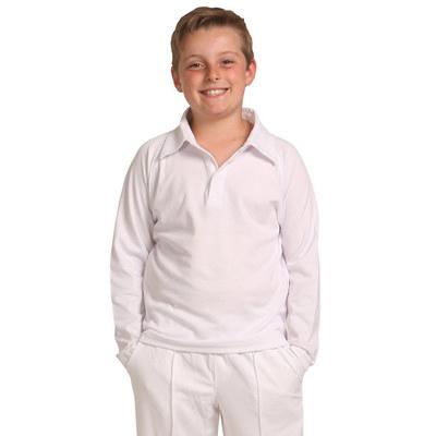 Kids Lsleeve Cricket Polo PS29KL_WIN