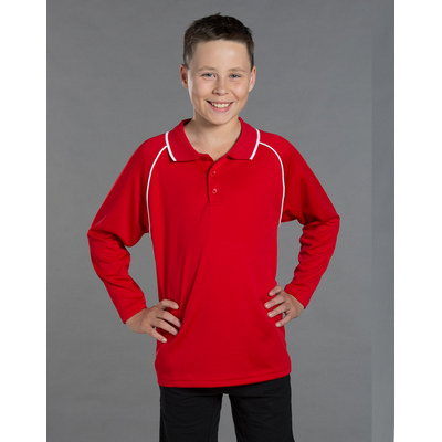 Kids Champion Plus Lsleeve Polo PS43K_WIN