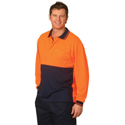 High Visibility Long Sleeve Polo SW05CD_WIN