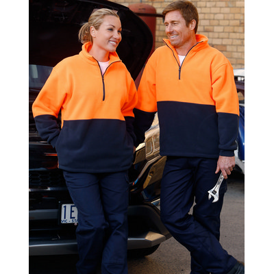 High Visibility Polar Fleece Half Zip Pullover SW07_WIN