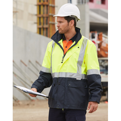 Hi-vis Safety Jacket With Mesh Lining & 3m Tapes SW18A_WIN