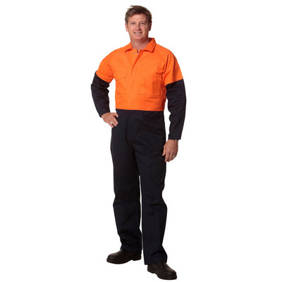 Mens Two Tone Coverall Regular Size SW204_WIN