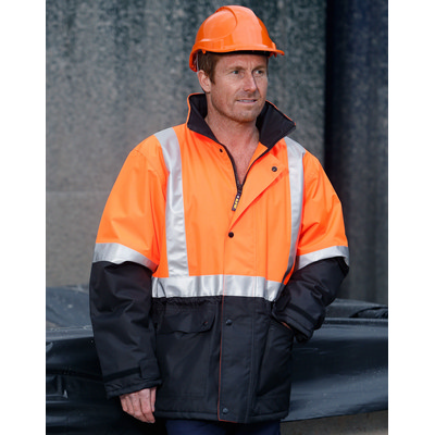 Hi-vis Two Tone Rain Proof Jacket With Quilt Lining SW28A_WIN