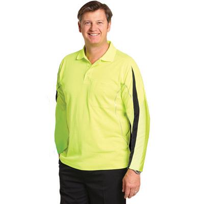 Hi-vis Legend Long Sleeve Polo Mens SW33A_WIN