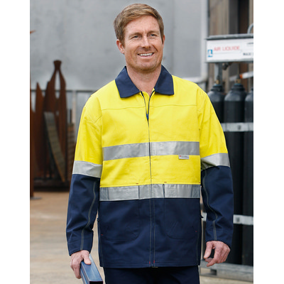 Hi-vis Cotton Jacket With 3m Tapes SW46_WIN