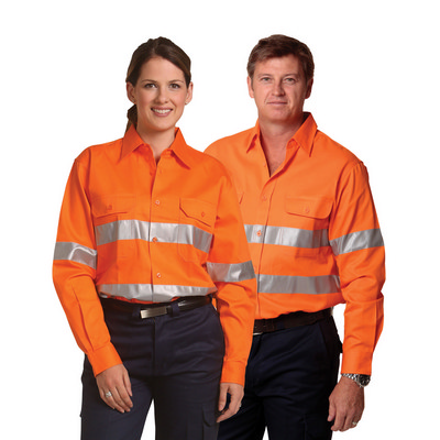Cotton Drill Safety Shirt - Unisex SW52_WIN