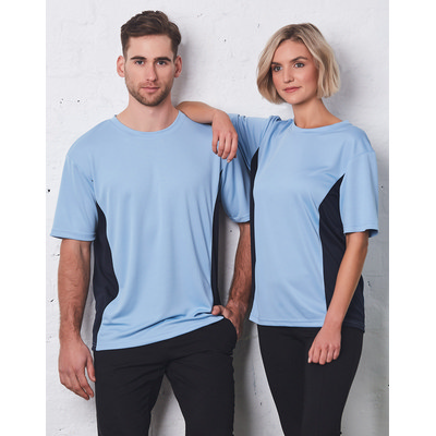 (Unisex) CoolDry Mesh Contrast Tee TS12_WIN