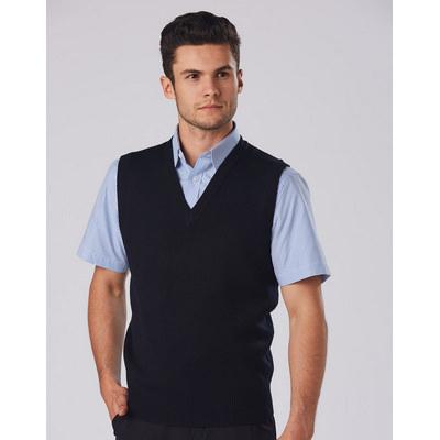 Unisex Woolacrylic V-neck Vest WJ02_WIN