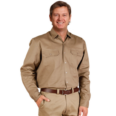 Cotton Drill Long Sleeve Work Shirt WT04_WIN