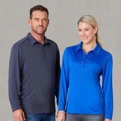 Ladies Freshen Polo Long Sleeve 1143_STENCIL