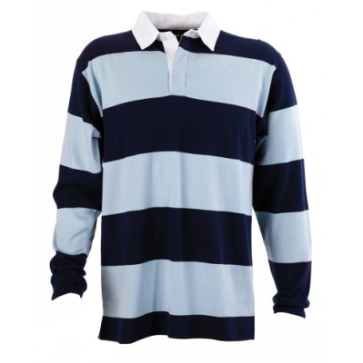 Mens Striped Rugby Jersey B09_IDE