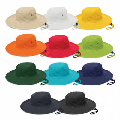 Cabana Wide Brim Hat - (printed with 4 colour(s)) 112787_TRDZ