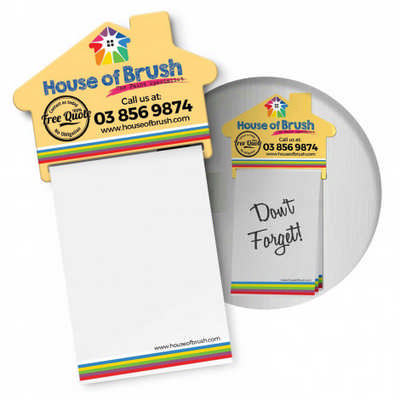 Magnetic House Memo Pad A7 - Full Colour - (printed with 4 colour(s)) 113367_TRDZ
