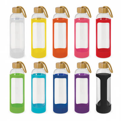 Eden Glass Bottle - Silicone Sleeve - (printed with 1 colour(s)) 113950_TRDZ