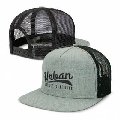 Jackson Flat Peak Trucker Cap - (printed with 1 colour(s)) 114244_TRDZ