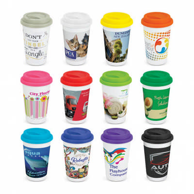 Aztec Double Wall Coffee Cup - Full Colour - (printed with 4 colour(s)) 115061_TRDZ